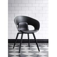 Deli Seating Fiberglass Arm Chair With Upholstered Seat Skandiform Design