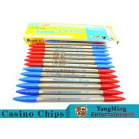 Baccarat Casino Gambling Games Dedicated 2 Functions Blue / Red Ball Pen Manufactures