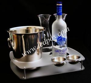 Grey Goose Bucket & Bottle Serving Tray