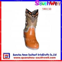 Quality Polyresin Girl's Boot Figurines for sale