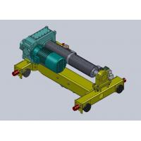 16 Ton Dual Rail Wire Rope Hoist Trolley , Steel Industry Manufactures