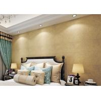 Gold Multifilament Nonwoven Water Resistant Wallpaper / Strippable Wall Paper Manufactures
