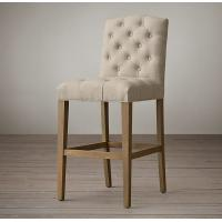 China Hot Sale of replica bar stools,with oak wood and linen fabric make on sale