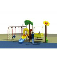 Quality Flower Roof Small Swing Sets , Adjustable Single Swing And Slide Set for sale