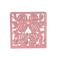 Modern Metal Napkin Holder Tissue Box Covers Flower Pattern For Home Decor Manufactures