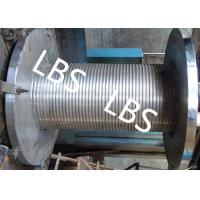 Buy cheap Custom Lebus Groove Wire Rope Drum With High Speed Rope Wheel from wholesalers