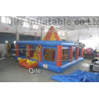 8M Multi-Style Pyramid Rock Climbing Wall , Inflatable Amusement Park Manufactures