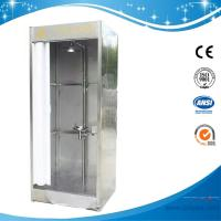 SH786B-Emergency shower & eyewash booth,stainless steel with water/waste tank and curtain door wash booth ss304 ANSI Z Manufactures