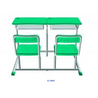Mint Green Student Desk And Chair Set HDPE Iron Adjustable School Furniture Manufactures