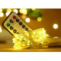 5M 50 LED Battery Operated String Lights With Remote Control Wedding Decorations Manufactures