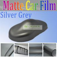 China Derek silver grey matt pvc car body sticker for car body wrapping and decoration Manufactures