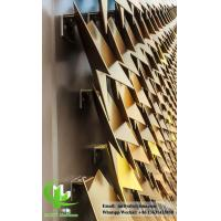 Metal aluminum panel leave shape for building cladding with gold color Manufactures