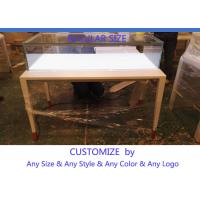 Quality Simple Usefull Modern White Wood Glass Counter Display For Jewelry for sale