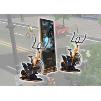 9 D VR Exercise Amusement Virtual Reality Bicycle Logo Customized For Arcade / Malls Manufactures