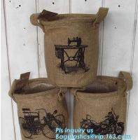 China natural jute burlap foldable decorative storage basket,X-Large Well Standing 26 Toy Chest Baskets Storage Bins for Dog on sale