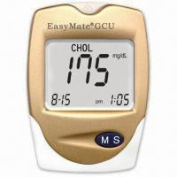 China Uric Acid Meter with 30 to 55% Hematocrit Range and Time/Date Display, Measures 88 x 64 x 22mm on sale