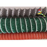 Lightweight HVAC High Temperature Flexible Duct , 100mm PVC Flexible Ducting Manufactures