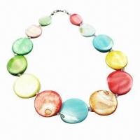 Colorful Shell Jewelry/Fashionable Necklace, Made of Shell, Various Colors and Designs are Available Manufactures