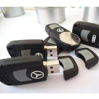 Car Key Customized USB Flash Drive, 16GB Soft PVC USB Memory Stick Manufactures
