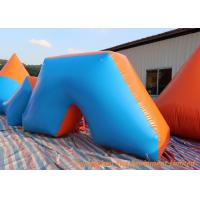 Hot Air Welding Inflatable Sport Games , 0.6mm Plato PVC Blow Up Bunkers Manufactures