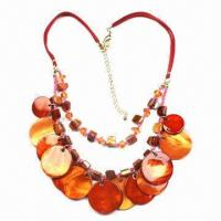 Polished Shell Necklaces, Pendant Necklaces, Ladies/Women Jewelry, Various Colors are Available Manufactures