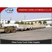 100 - 250 Tons Heavy Equipment Lowboy Trailer , Multi Axles Low Bed Trailer Manufactures