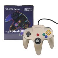 Light Weight Nintendo 64 Gold Controller , Bluetooth N64 Controller Pressure Sensitive Button