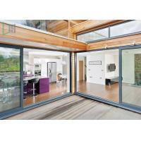 Residential Housing Powder Coated Aluminium Doors Weather Resistant ISO Certificate Manufactures