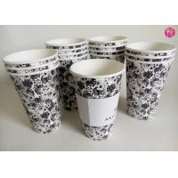 Single Wall 16oz Hot Tea coffee takeaway cups Custom Paper Sleeve Manufactures