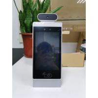 China Body Temperature Detector 8 Inch Face Identification Panel Android OS Floor Stand No Touch Kiosk on sale