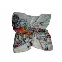 Branded Square Silk Scarf (LC009) Manufactures