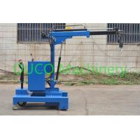 Electric Industry Floor Telescopic Boom Crane Movable For Lifting / Unloading Manufactures