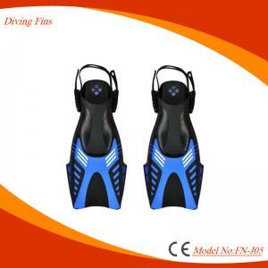 3D Ergonomic Design Diving Swim Fins , Adjustable Short Snorkeling Fins Manufactures