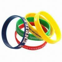 Fashionable Silicone Bracelet, Customized Prints are Welcome Manufactures