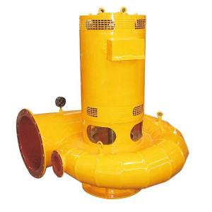 China Yellow Color Low Head Water Turbine Bulb Tubular Hydro Generator For Micro Hpp on sale