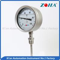 SS Dial Temperature Gauge , Shock Proof Bimetallic Expansion Thermometer