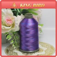 Purple Space Dyed Polyester Machine Embroidery Thread for Home Textile Manufactures