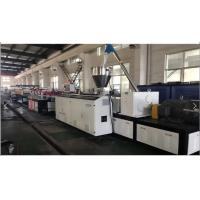 Conical Double Extruder PVC Foam Board Extrusion Line , PVC Foam Board Making Machine Manufactures