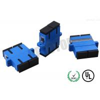 Connector SC Optical Fiber Adapter Simplex With Shutter Blue Color Manufactures