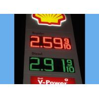Weatherproof  Digital Price Led Gas Station Signs for Oil Station Advertising Manufactures
