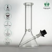 10 Inches Glass Water Tube Sheldon Black Mini Beaker Glass Bongs With Derby Hat Bowl Manufactures