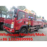 SINO TRUK WANGPAI 4*2 LHD diesel 160hp 5-6.3tons telescopic truck with crane for sale, cargo truck mounted with crane Manufactures