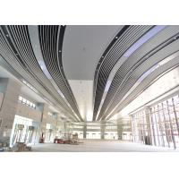 Quality Artistic Eco-friendly Indoor Decoration Aluminum Suspended Strip Ceiling Panel Beveled Edge for sale