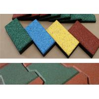 Outdoor Playground Small Rubber Floor Tiles Anti Slip Rectangular Shape Manufactures