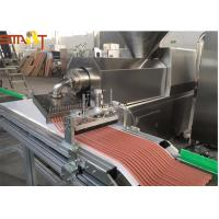 Automatic Stainless Steel Single Screw Extrusion Machine For Pet Meat Strips Manufactures