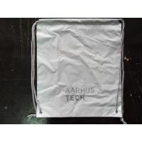 PersonalizedPP Promotion  Packaging / White Plastic Drawstring Backpack Manufactures