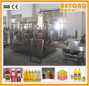 China Juice Filling Machine / Fruit Juice Washing Filling Capping Machine on sale