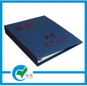 China Pink , Blue , Orange Outside Art Paper 3D Ring Binder Cardboard File Folder on sale