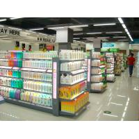 Customizable Convenient Washing Lotion Shelf , Glass Cosmetic Display Shelves Manufactures