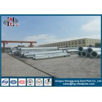 China NEA Standard High Voltage Steel Electric Pole Steel Power Pole Sheet Metal Fabrication Electrical Poles on sale
